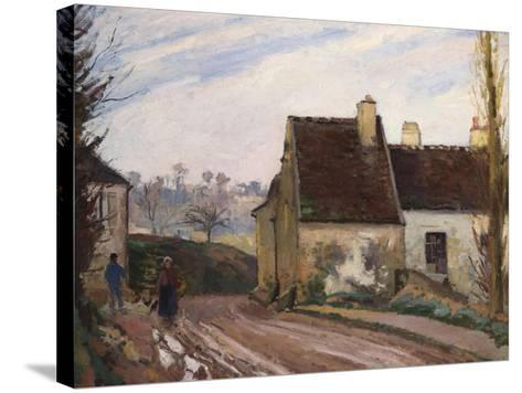 The Cottages Near D'Osny, Les Masures Pres D'Osny, 1872-Camille Pissarro-Stretched Canvas Print