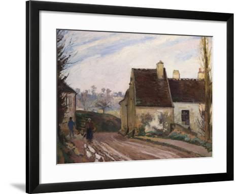 The Cottages Near D'Osny, Les Masures Pres D'Osny, 1872-Camille Pissarro-Framed Art Print