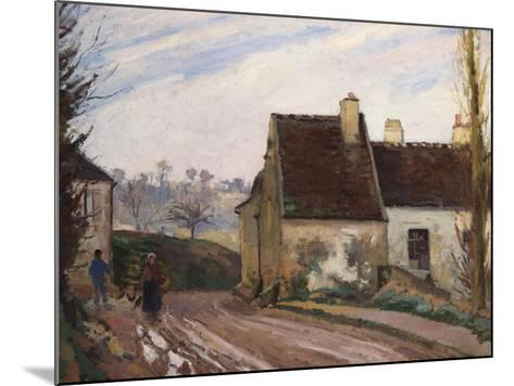 The Cottages Near D'Osny, Les Masures Pres D'Osny, 1872-Camille Pissarro-Mounted Giclee Print