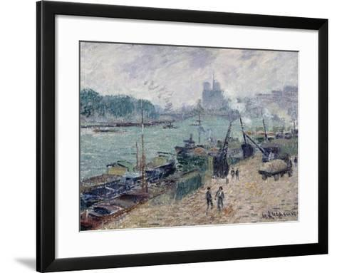 Henry IV Bridge, Paris, c.1918-Gustave Loiseau-Framed Art Print