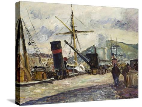 Steamboat, Rouen, Bateau a Vapeur, Rouen, 1883-Camille Pissarro-Stretched Canvas Print