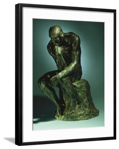 The Thinker, Le Penseur, Bronze with Black Patina, c.1880-1882-Auguste Rodin-Framed Art Print