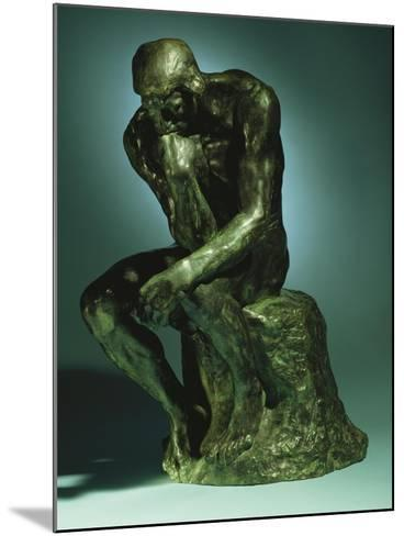 The Thinker, Le Penseur, Bronze with Black Patina, c.1880-1882-Auguste Rodin-Mounted Giclee Print