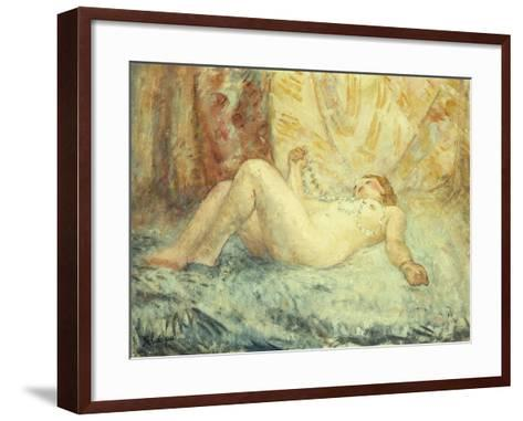 Reclining Nude-Henri Lebasque-Framed Art Print