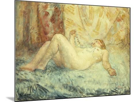 Reclining Nude-Henri Lebasque-Mounted Giclee Print