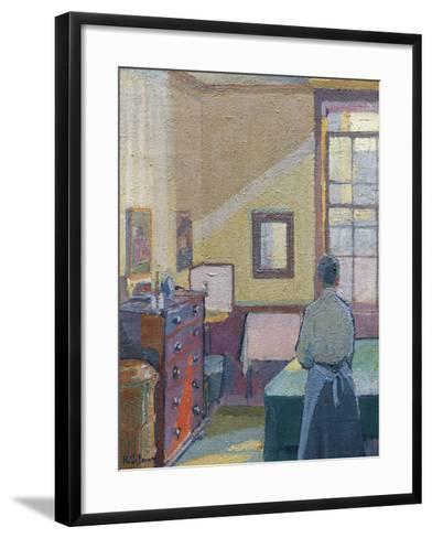 Interior, 1917, Catalogue No 1317C-Harold Gilman-Framed Art Print