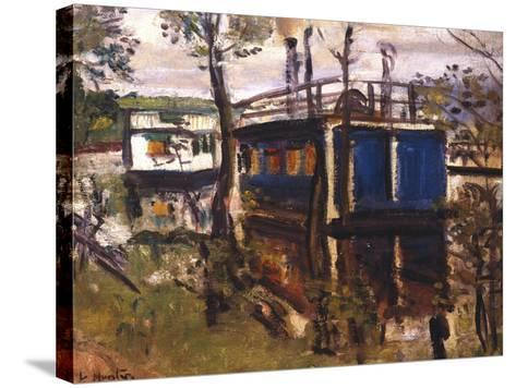 House Boats, Loch Lomond--Stretched Canvas Print