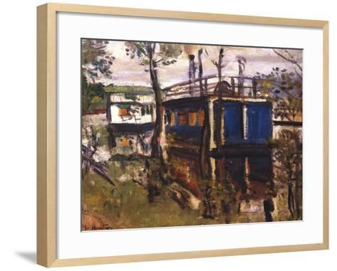 House Boats, Loch Lomond--Framed Art Print