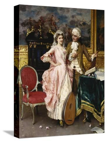 The Music Lesson-Federigo Andreotti-Stretched Canvas Print