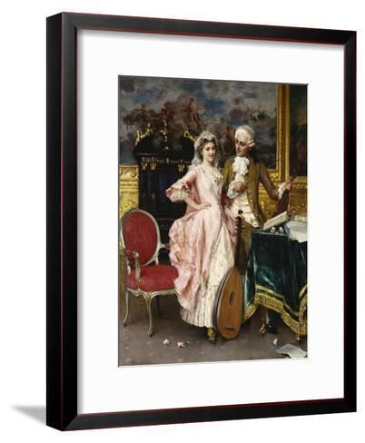 The Music Lesson-Federigo Andreotti-Framed Art Print