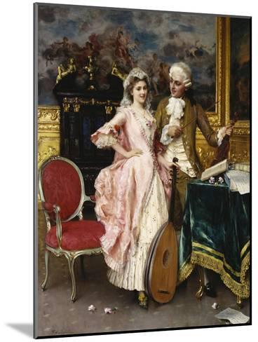 The Music Lesson-Federigo Andreotti-Mounted Giclee Print