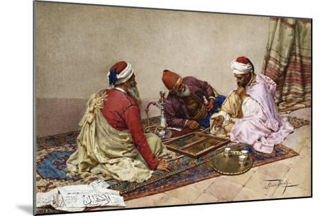 The Backgammon Players-Giulio Rosati-Mounted Giclee Print
