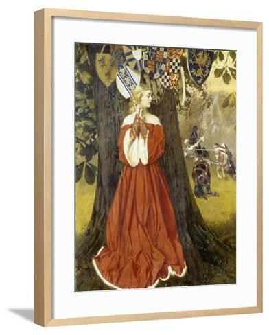 Launcelot Slays Sir Tarquin and Rescues the Fair Lady and the Knights in Captivity, 1954-1955-Richard Bernhardt Louis-Framed Art Print