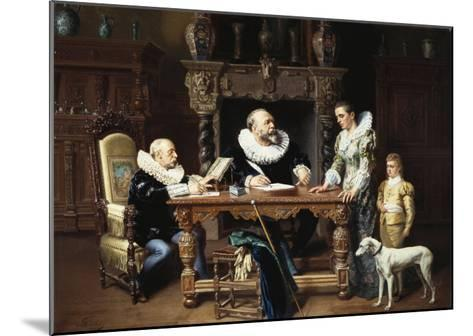 At the Solicitor's, 1892-Gustave Mattele-Mounted Giclee Print