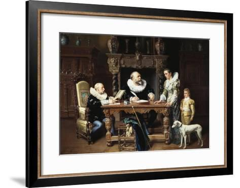 At the Solicitor's, 1892-Gustave Mattele-Framed Art Print
