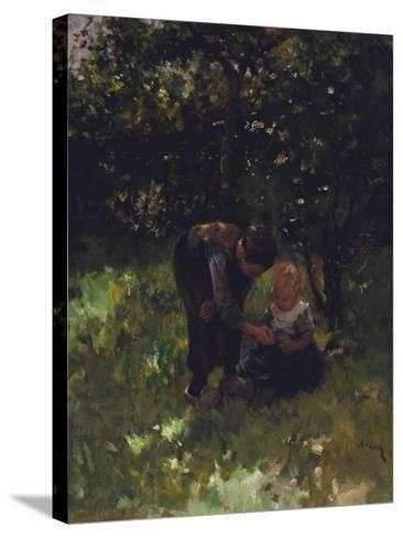 Apple For Little Sister-Jacob Simon Kever-Stretched Canvas Print