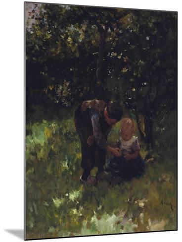 Apple For Little Sister-Jacob Simon Kever-Mounted Giclee Print