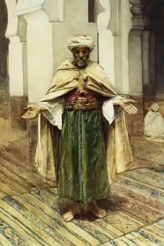 Praying Arab-Maria Martinetti-Stretched Canvas Print