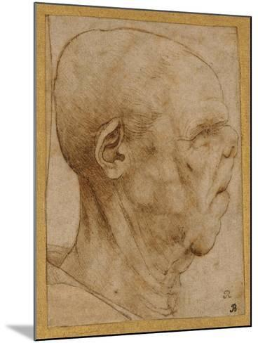 Caricature of the Head of an Old Man, in Profile to the Right, c.1507-Leonardo da Vinci-Mounted Giclee Print
