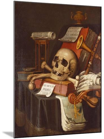 To Vanity, a Vanitas-Evert Collier-Mounted Giclee Print