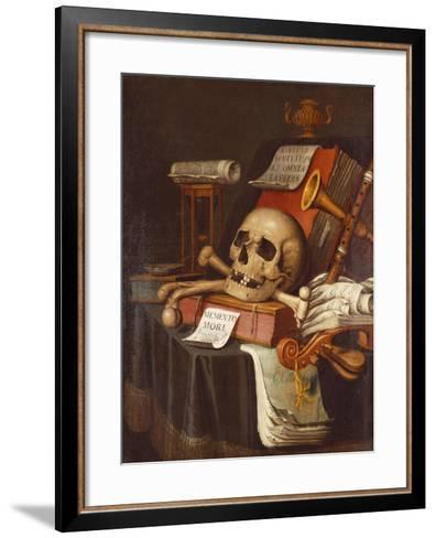 To Vanity, a Vanitas-Evert Collier-Framed Art Print