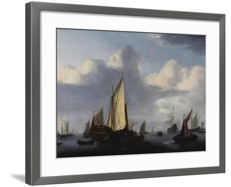 Seascape with a States Yacht and Other Shipping in a Calm, 1654-Willem Van De Velde The Younger-Framed Art Print
