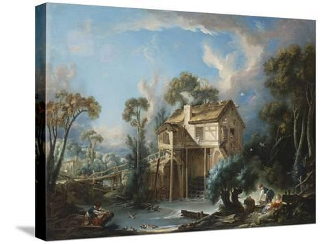 The Mill at Charenton, c.1756-Francois Boucher-Stretched Canvas Print