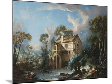 The Mill at Charenton, c.1756-Francois Boucher-Mounted Giclee Print