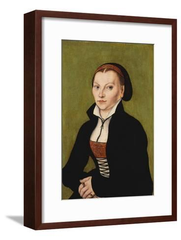 Portrait of Katharina Von Bora, 1472-1553-Lucas Cranach the Elder-Framed Art Print