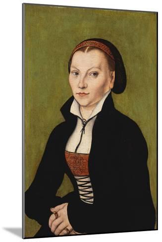 Portrait of Katharina Von Bora, 1472-1553-Lucas Cranach the Elder-Mounted Giclee Print