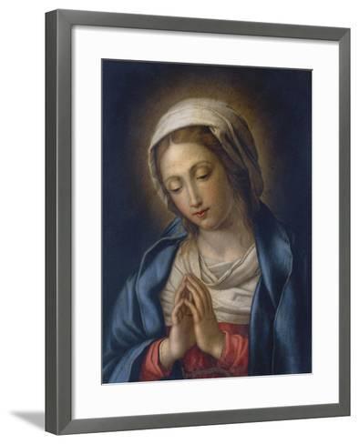 The Virgin at Prayer-Giovanni Battista Salvi da Sassoferrato-Framed Art Print