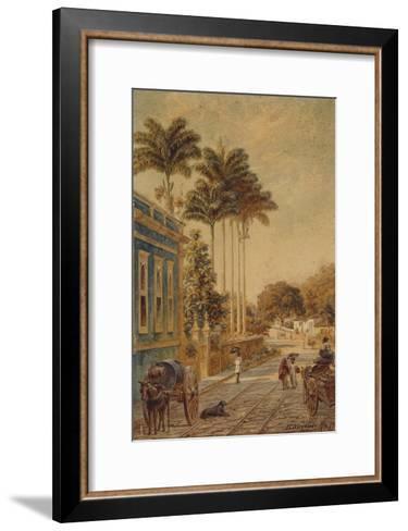 Street Scene, Rio de Janeiro, 1879-Bernhard Wiegandt-Framed Art Print