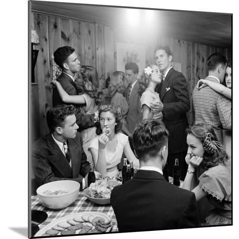 Teenagers Dancing and Socializing at a Party-Nina Leen-Mounted Photographic Print