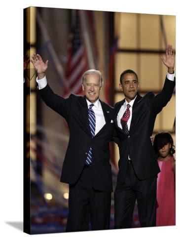Barack Obama and Joe Biden at the Democratic National Convention 2008, Denver, CO--Stretched Canvas Print