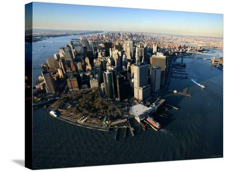 Aerial View of Skyscrapers and High-Rises in New York City--Stretched Canvas Print