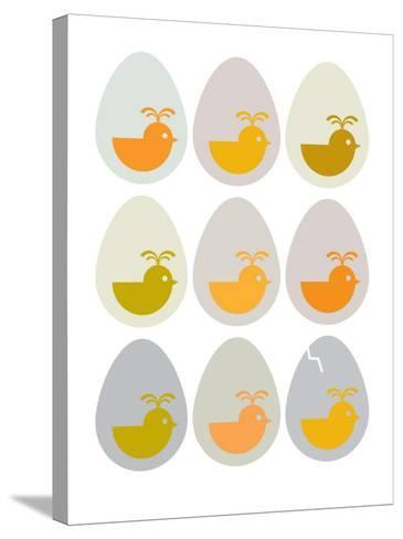 Modern Egg Hatching-Avalisa-Stretched Canvas Print
