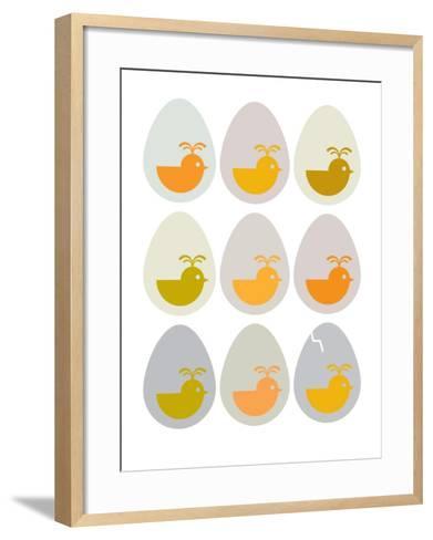 Modern Egg Hatching-Avalisa-Framed Art Print
