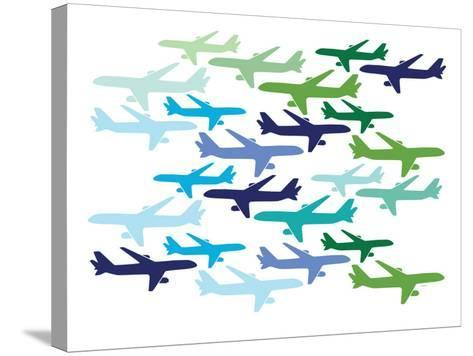 Airplane Pattern-Avalisa-Stretched Canvas Print