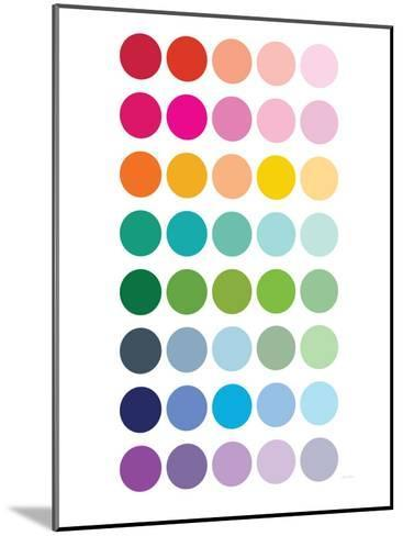 Rainbow Dots-Avalisa-Mounted Art Print