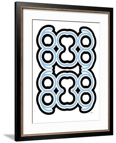 Blue Design, no. 10-Avalisa-Framed Art Print