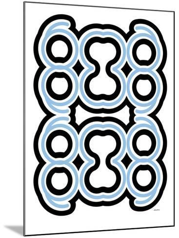 Blue Design, no. 10-Avalisa-Mounted Art Print