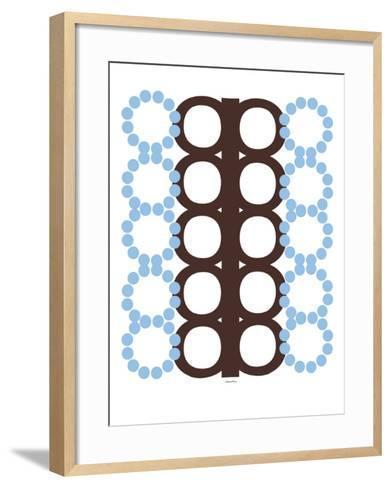 Blue and Brown Design-Avalisa-Framed Art Print