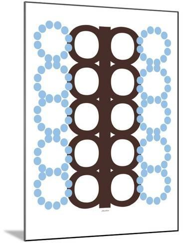 Blue and Brown Design-Avalisa-Mounted Art Print