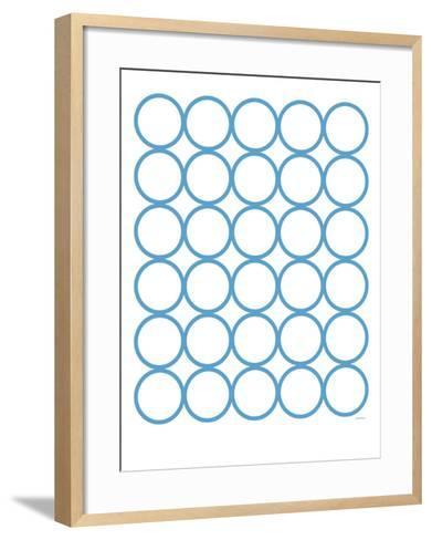 Blue Circles-Avalisa-Framed Art Print