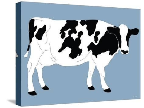 Blue Dairy Cow-Avalisa-Stretched Canvas Print