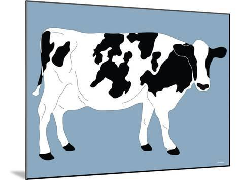 Blue Dairy Cow-Avalisa-Mounted Art Print