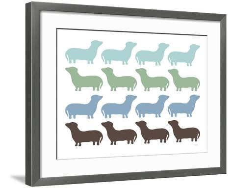 Blue Dashund Family-Avalisa-Framed Art Print