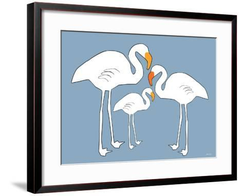 Blue Famingo-Avalisa-Framed Art Print