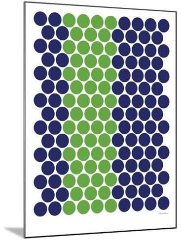 Blue Green Dots-Avalisa-Mounted Art Print