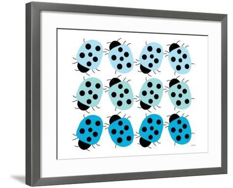 Blue Lady Bug Family-Avalisa-Framed Art Print